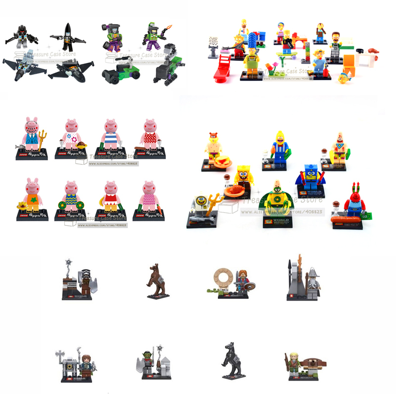 Spongebob Hobbit Simpson DIY Minifigures Kids Toys Patrick Star minifigure Building Block Compatible With Lego(China (Mainland))