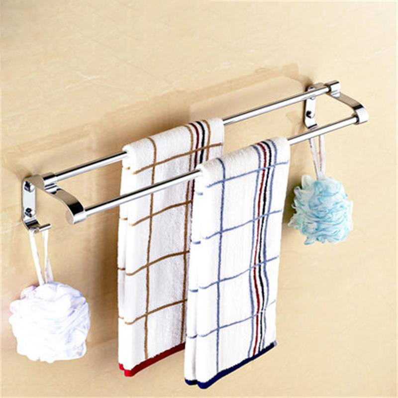 LANGPAI Bathroom Accessories Towel Holder Solid Fashion Towel Rack With Hook Multifunctional WC Bathroom Organizer Storage Shelf(China (Mainland))