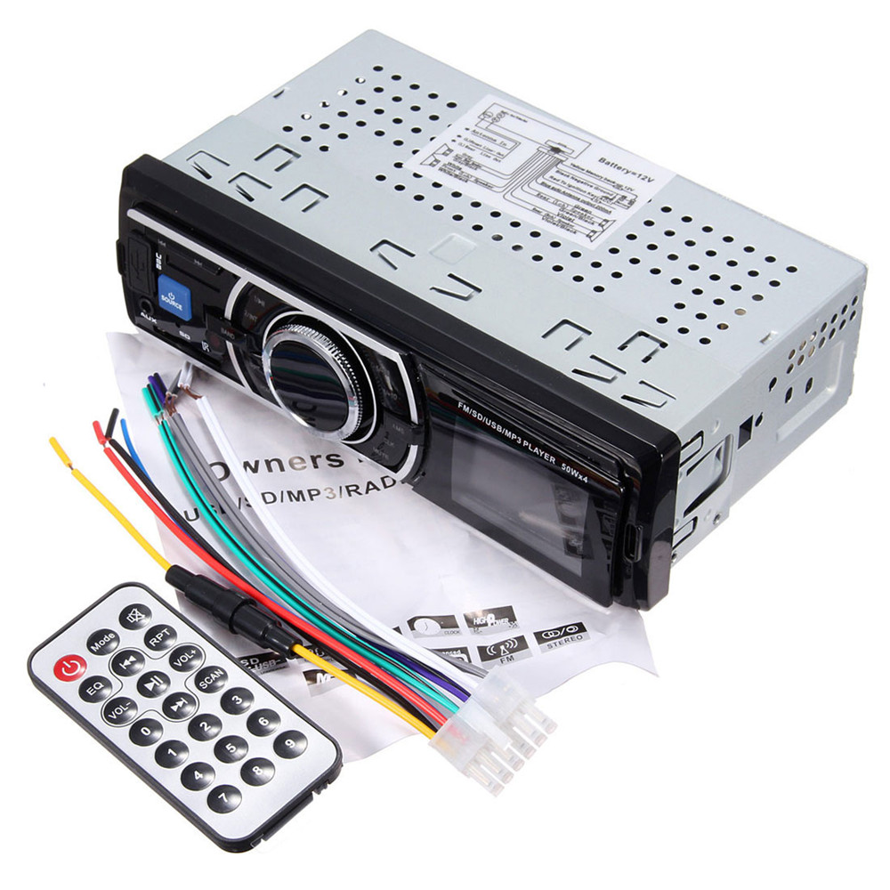 New 25W x 4CH Auto Car Stereo Audio In-Dash Aux Input Receiver with SD USB MP3 FM Radio Player With remote control DC 12-14.4V(China (Mainland))