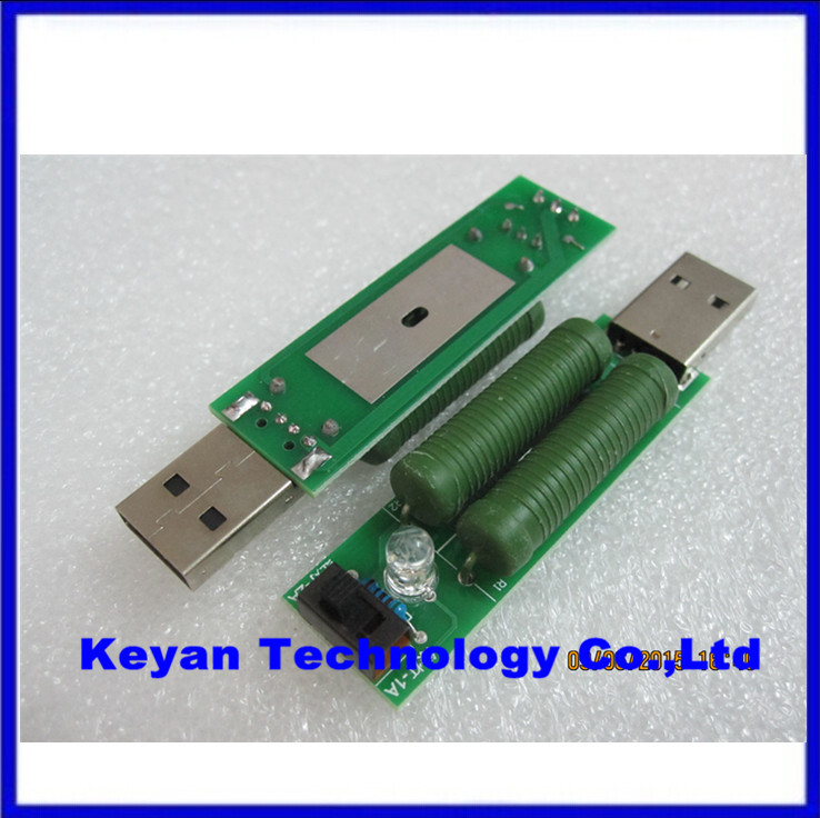 USB mini discharge load resistor 2A 1A With switch 1A Green led 2A Red led