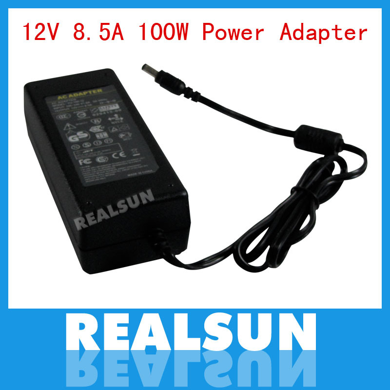 AC/DC Power Adapter 12V 8.5A 100W Power Supply Adapter with EU US AU UK plug AC Cable Wholesale free shipping(China (Mainland))