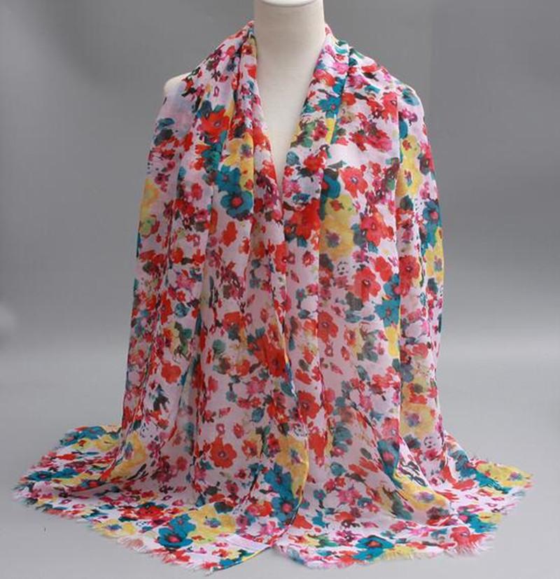 2016 Brand scarf fancy flowers shawl fashion print muslim scarfs wraps women luxury shawls and scarves elegant foulard hijabs(China (Mainland))