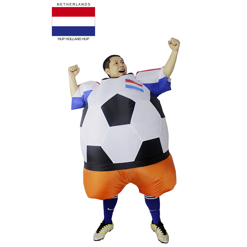 Netherlands Holland Soccer Player Halloween Costume Adult Football Costume for Men Women Unisex Party Bar Club Cosplay Clothing(China (Mainland))