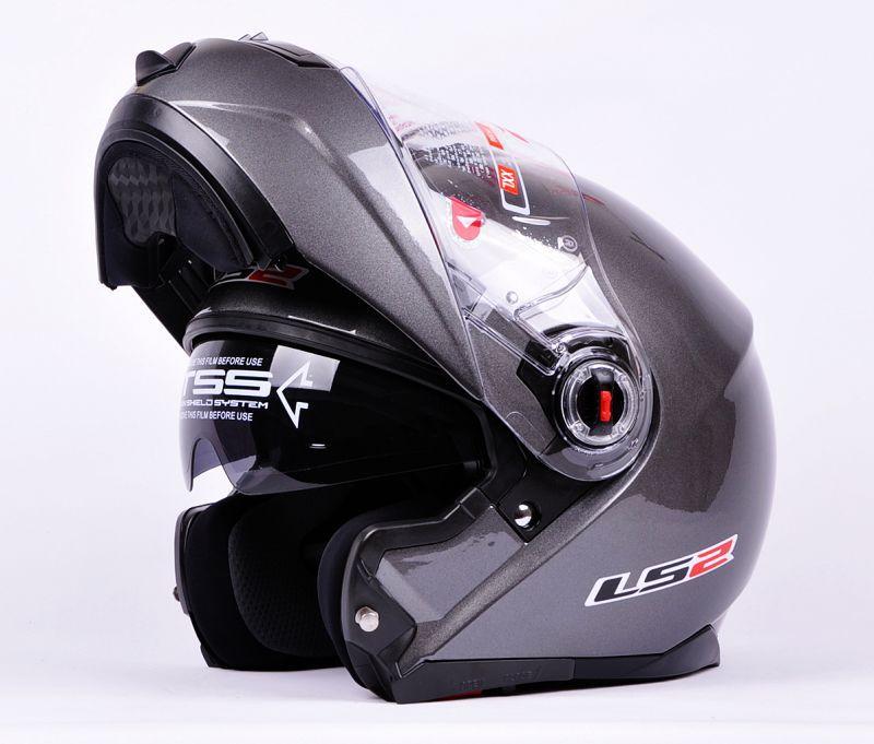 free shipping LS2 FF386 Full Face Moudular helmets Flip Up Dual Visor Motorcycle Helmet ECE approved helmet size L XL XXK(China (Mainland))