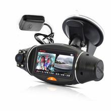 R310 270 Degree 2.7inch IR Night Vision TFT LCD Dual 2 Lens Dash HD DVR Car Auto Vehicle Camera Cam Video Recorder G-sensor GPS(China (Mainland))