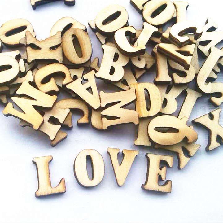 Feira Artesanato Osasco ~ 100 PCS ingl u00eas letras casamento tal u00e3o de madeira