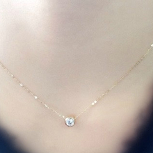 Summer wedding accessories 1.5MM CZ necklace gold plated necklace And the hand catenary For Women gift XL279