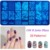 2016 20 Styles DIY Image 12x6cm OM Series Stamping Plates Fashion Nail Art Templates Stencils Salon Beauty Polish Tools for Xmas