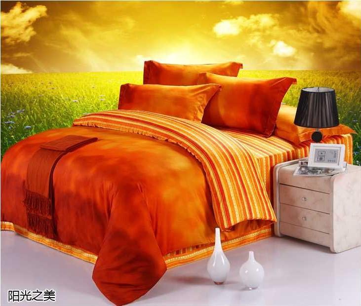 Luxury 100 Egyptian Cotton Designer Orange Brand Bedding