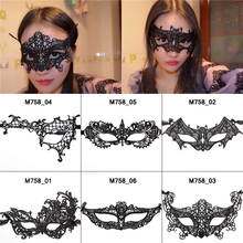 Styles Black Lace Floral Mask For Sexy Lady Cutout Eye Face Mask Masquerade Mysterious Masks For Home Party Fancy Dress Costume(China (Mainland))