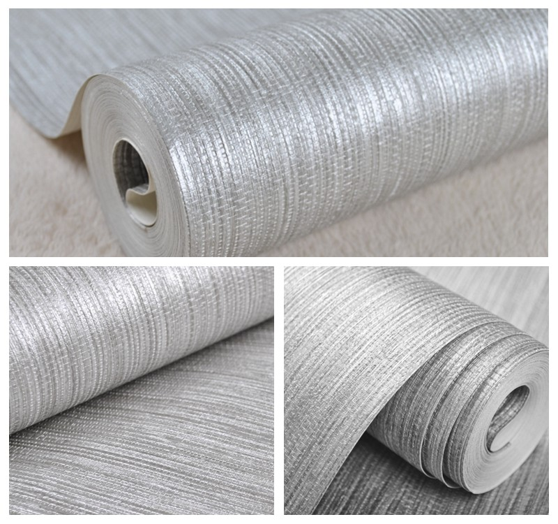 Vertical Grasscloth Wallpaper: Wholesale Vertical Texture Metallic Silver Faux Grasscloth