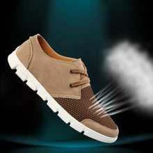 2015 new men s Fashion breathable mesh shoes Casual sneakers Suede leather beach sandals xgx 6088