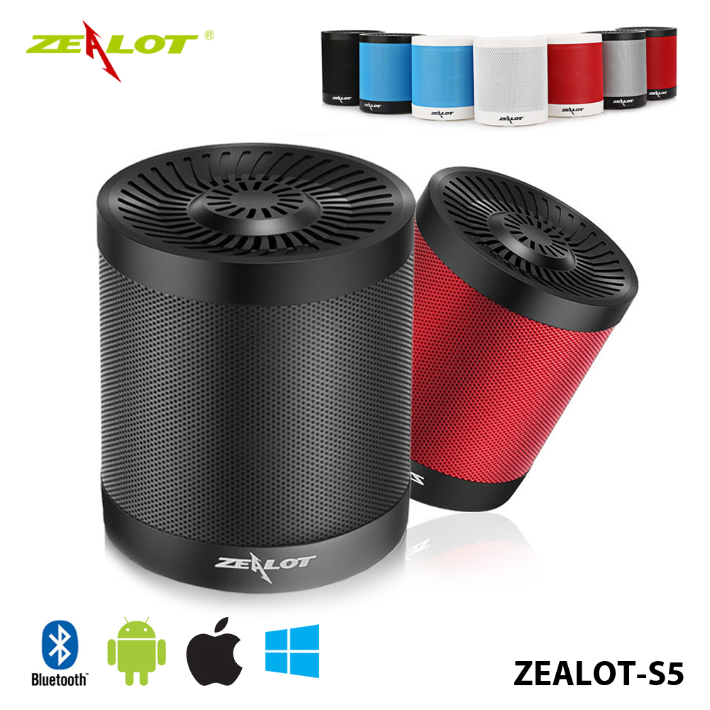 Zealot S5 Portable Bicycle Camping Bluetooth Speaker+Mic Loud Boombox Muilt-Mode For iPod/iPhone/ipad/Samsung 2000mAh Battery(China (Mainland))