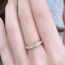 2014 Promotion Bands Many Romantic Crystal Party Golden Silver Round Shape Much gem Ring for Women Gift Limited 1pcs Sales(China (Mainland))