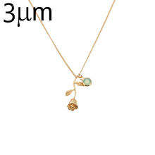 Buy 3UM Necklace Women Rose Flower Pendant Necklace Personalized Birthstone charm Beauty Beast Final Rose Flower Jewelry for $4.68 in AliExpress store