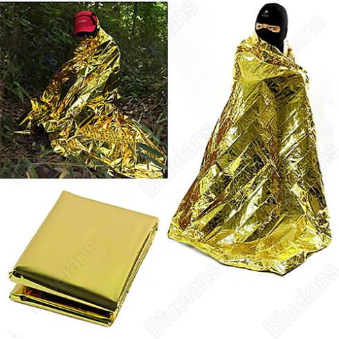 New Waterproof Emergency Survival Foil Thermal First Aid Rescue Blanket Tent 01VS 4BB6(China (Mainland))