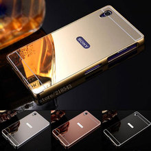 Buy Sony Xperia Z4 Case NEW Luxury Gold Silver Plating Aluminum Frame + Mirror Acrylic Back Cover Sony Xperia Z4 Phone Cases for $2.88 in AliExpress store