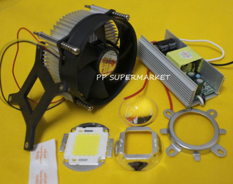 100W 100Watt High Power White LED Light + Heatsink Cooler+100W LED Driver(China (Mainland))