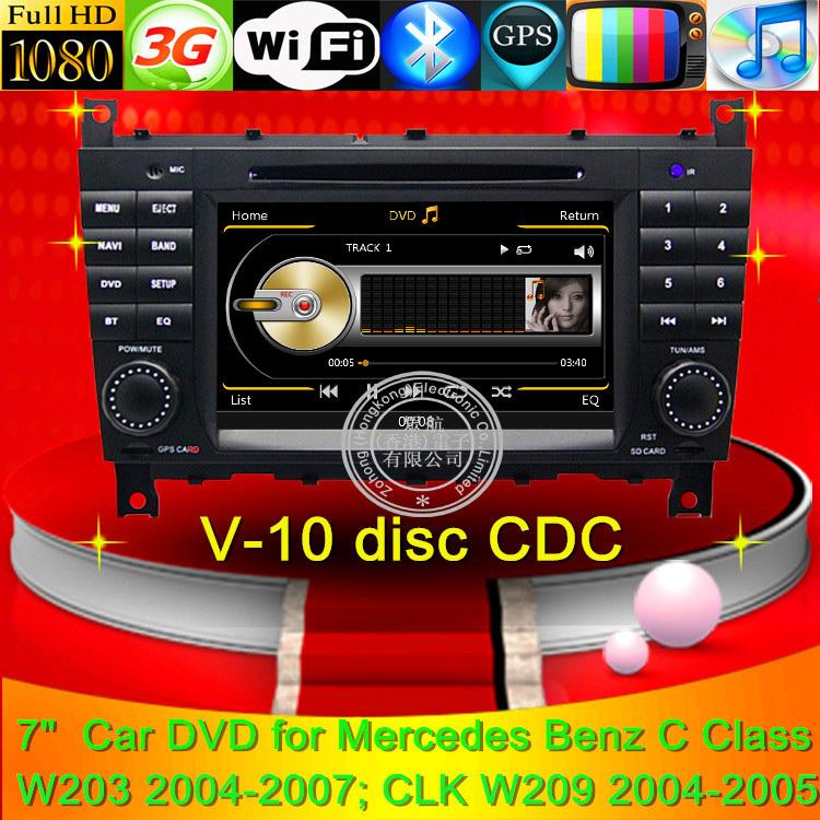 Car DVD Player radio tape recorder GPS Mercedes Benz C Class W203 CLK W209 G ClaSS W467 3G WIFI Internet Free map(China (Mainland))