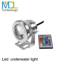 10W IP68 RGB LED Underwater Light Waterproof DC12V Swimming AC110-240V Landscape Fountain Pond Lighting With 24K IR Remote