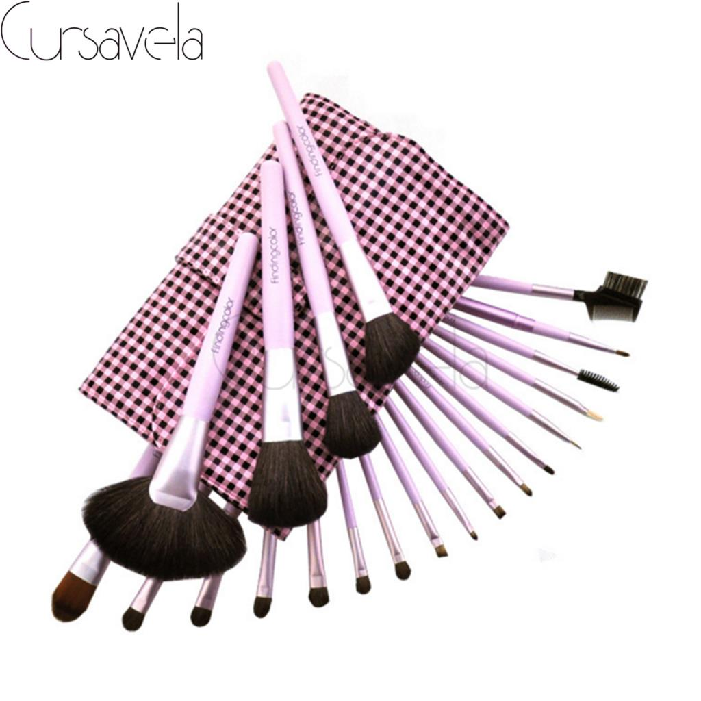 21pcs High Quality Makeup Brushes Set Pink Professional Make up Brush Fundation Eyeshadow Make up maquillage Brushes+Bag EAB032
