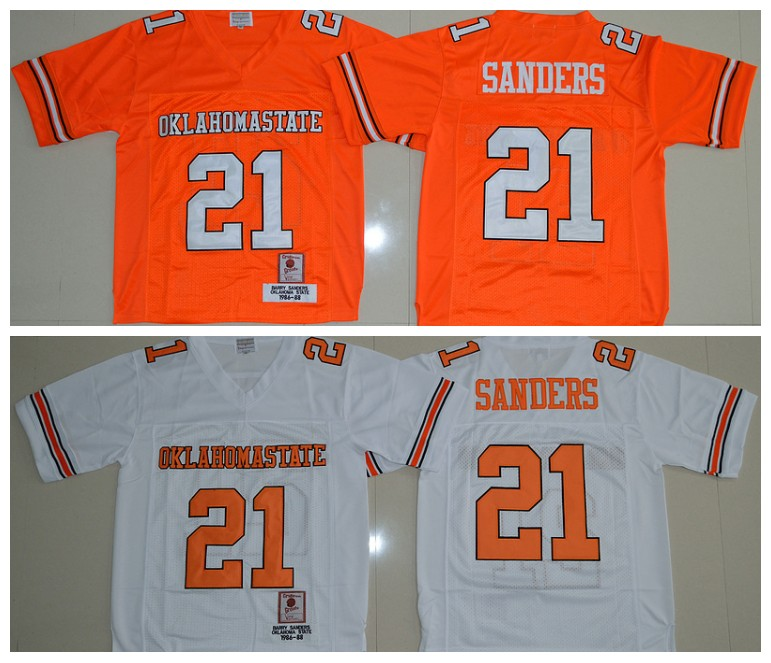 2016 Throwback 100% Stitched Oklahoma State Cowboys Barry Sanders 21 College,camouflage(China (Mainland))
