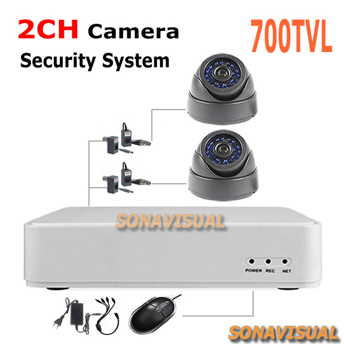 2014 Newest most popular security CMOS 700tvl IR CCTV Camera with 2ch cctv dvr system security surveillance  system diy kit<br><br>Aliexpress