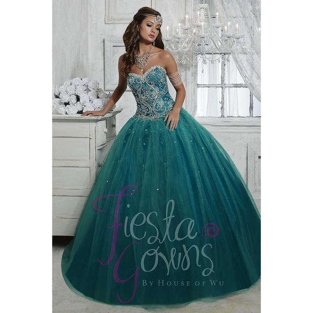 Темно-голубой украшенный драгоценными камнями лиф пышное платье тюль бальные платья ...