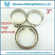 3.0 polegada diamètre en acier inoxydable 304 normale V collier de serrage avec mâle et femelle bride kit