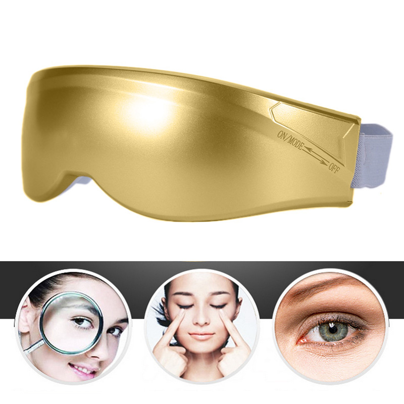 Free Shipping Eye Care Health Electric Vibration Release Alleviate Fatigue Eye Massager Golden ST1