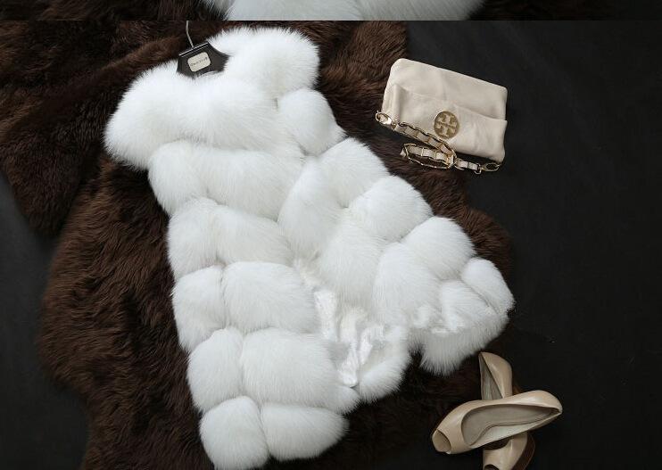 New 2014 Winter Coat Women Import Whole Peel Fox Fur Vest High-Grade Cappa Fur Coat Leisure Shitsuke Women Coat Size:S-XXXXL(China (Mainland))