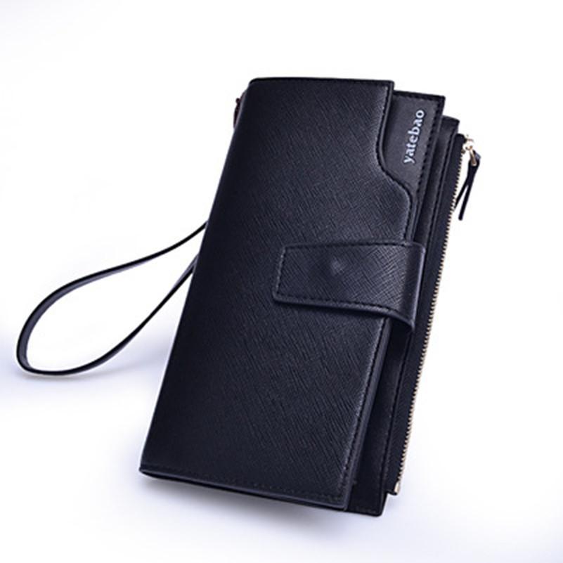 High Capacity Zipper Cowhide Men Wallets Luxury Genuine Leather Brand Men Clutch Wallet Men's Purse Male Handbags Cell Phone Bag(China (Mainland))