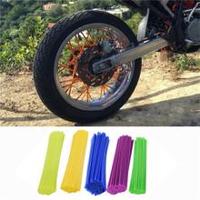New Motocross Dirt Bike Enduro Wheel RIM SPOKE Shrouds SKINS COVERS Spoke Coats For Kawasaki Motocross(China (Mainland))