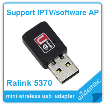 Free shipping mini usb wifi wireless network card 150m with Ralink 5370 Chipset support sofeware AP/IPTV