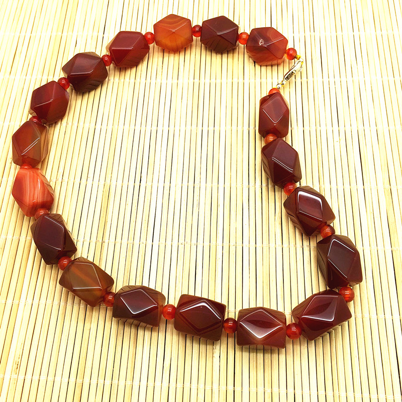Natural red agate Carnelian Bead necklace 13X18mm bead agate necklace high quality natural stone Party necklaces(China (Mainland))