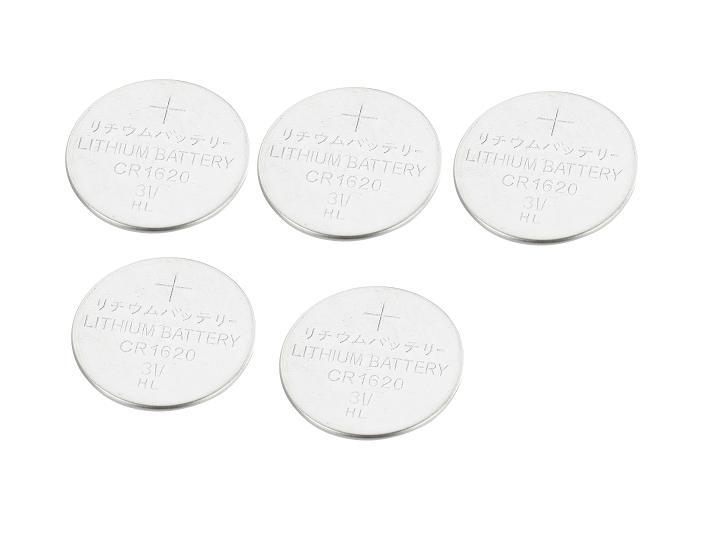 5Pcs DL1620 CR1620 1620 3V Lithium Button Coin Battery(China (Mainland))