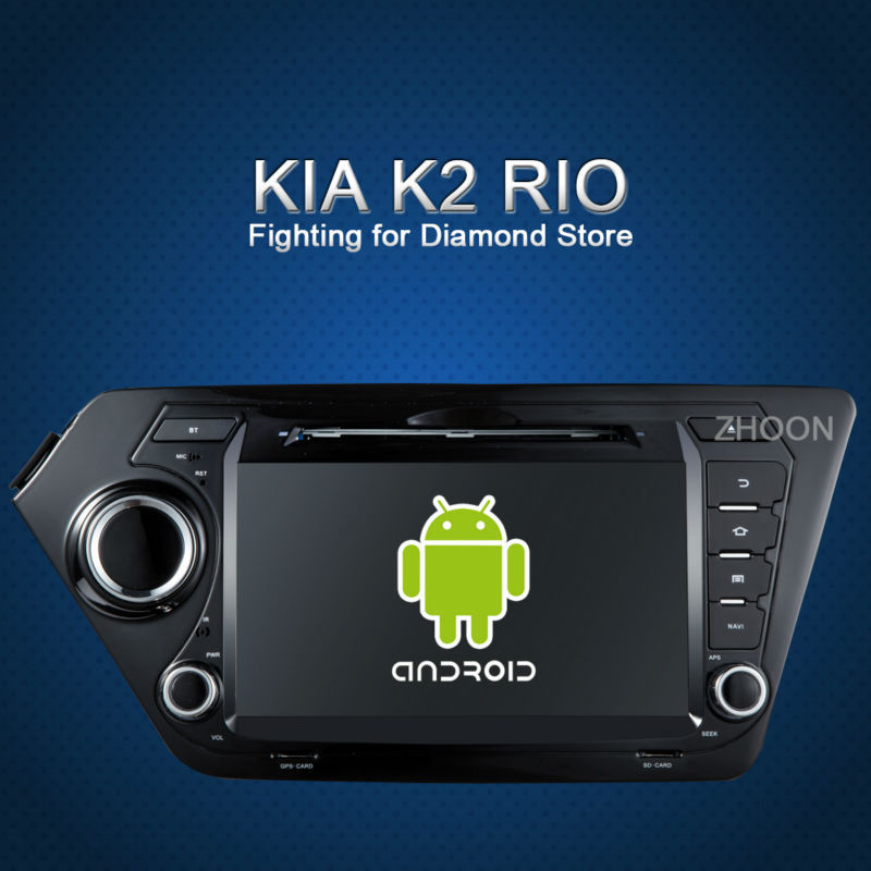 2 din 8 inch Pure Android car dvd player radio 4.2 Kia k2 RIO 2010 2011 2012 3g WiFi 100% Capacitive Screen  -  Zhoon Car DVD CO.,LIMITED store