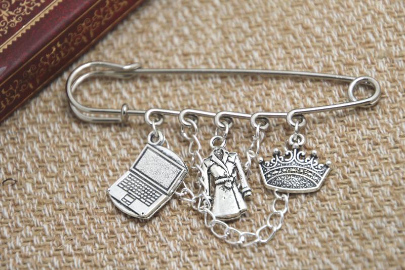 12pcs Sherlock inspired John Jim and Sherlock themed charm with chain font b kilt b font