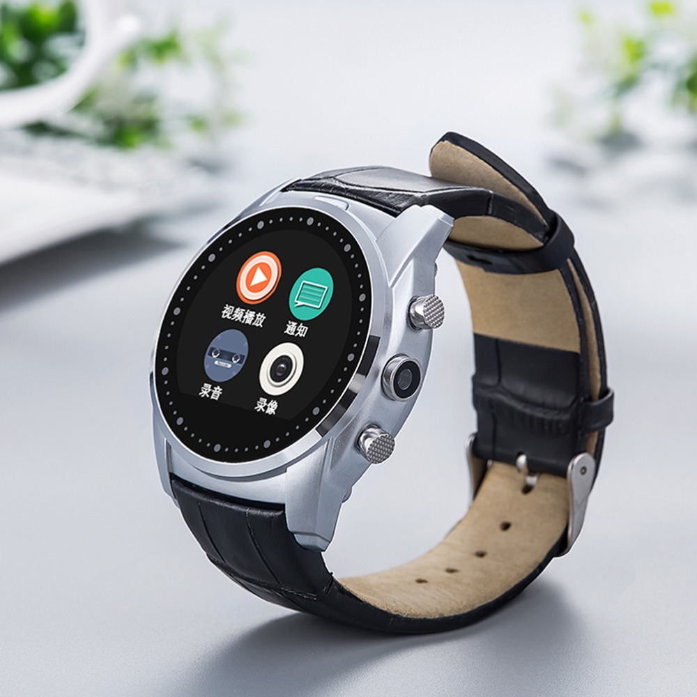 A8 Bluetooth Smart Watch Round Dial SIM Card/Memory Card Support,Bluetooth 3.0,Built-in Camera/Speaker/Microphone,Vintage Style(China (Mainland))