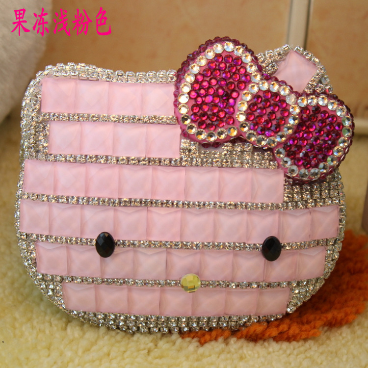 Mirror mirror diamond hello kitty Hello Kitty clamshell fashion female models mirror(China (Mainland))