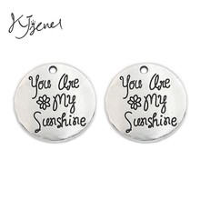 Buy Antique Silver Sunshine Charms Pendants fit Jewelry Making Accessories Findings Diy Handmade 25mm for $1.49 in AliExpress store