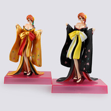 Free Shipping Anime Doll One Piece Nami Kimono PVC Action Figure Model Sexy Collectible Toy 21cm KB0655