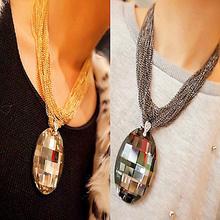 Fashion luxury large rhinestone necklace Baroque retro multilayer short necklace X110(China (Mainland))