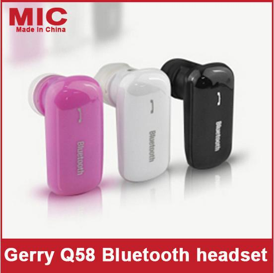 Kat Blue Q58 mono Bluetooth headset distributors one with two gift choice for cheap wholesale Bluetooth Headset(China (Mainland))