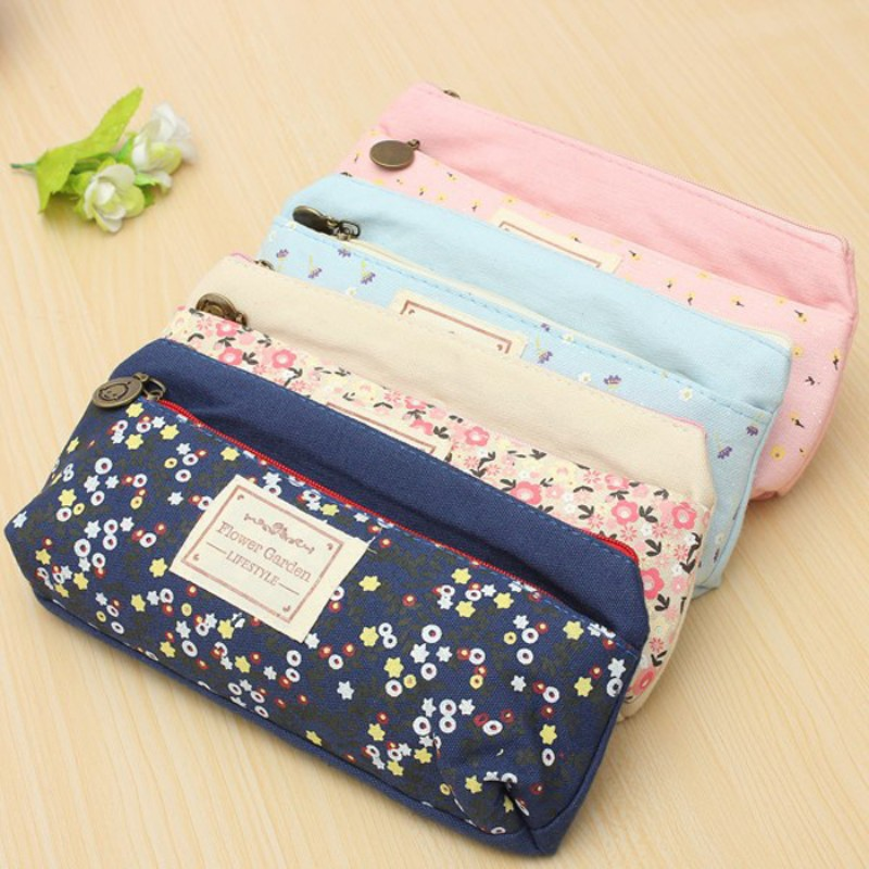 12 pcs/lot Double zipper pencil bag Lace school pencil case for girls Kawaii stationery office supplies 20*10 cm<br><br>Aliexpress