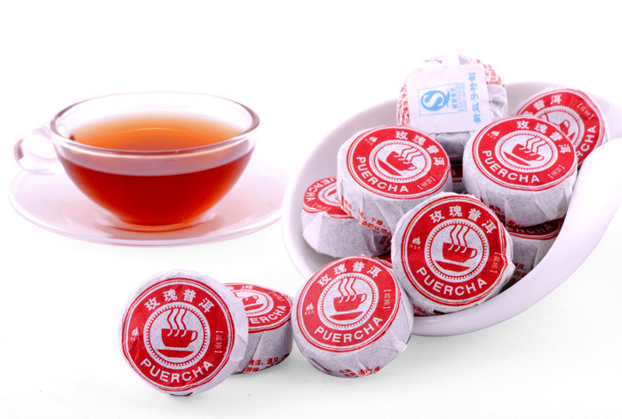 1ball lot Rose Flavor Pu er Puerh Tea Chinese Mini Yunnan Puer Tea Women S Green