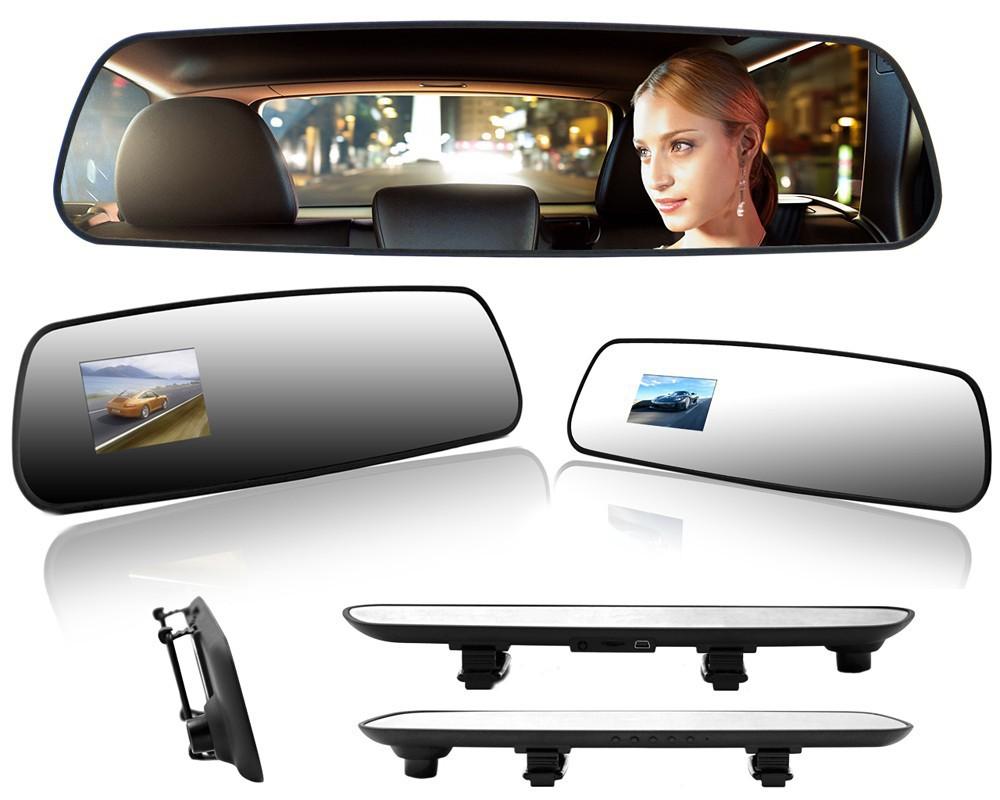 Фотография Novatek 4.3 inch Full HD 1080P Car Rearview Mirror DVR Car Camera Night Vision Parking Mirror Cam Car DVR Camera Video Recorder