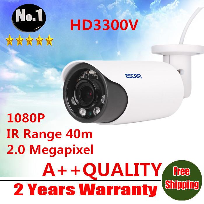 ESCAM HD3300V 1080P IP Surveillance camera  IR Range 40m  2.0 Megapixel  Waterproof  Day Night  4pcs Arrany LEDs  Night vision<br><br>Aliexpress