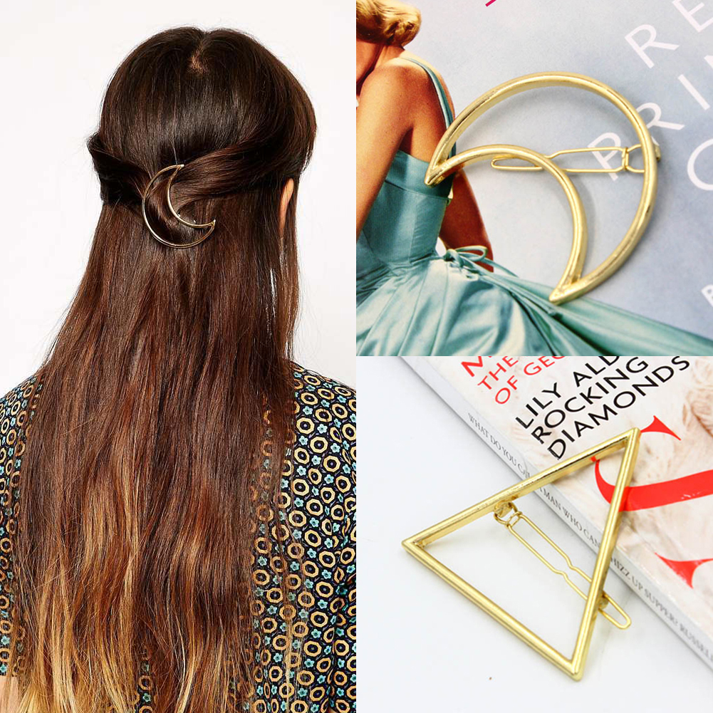 New Fashion Women Punk Hollow Moon Clamps Gold Tone Hair Clip Hairpin Hairwear For Girls Drop ShippingОдежда и ак�е��уары<br><br><br>Aliexpress