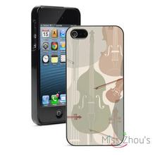 Stringed Musical Instruments back skins mobile cellphone cases for iphone 4/4s 5/5s 5c SE 6/6s plus ipod touch 4/5/6
